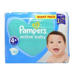 Pampers New Giant Pack Nr.4+ 9-16/10-15kg, 70buc