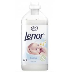 Lenor balsam rufe Pure Care Sensitive 1.9l, 63 spalari