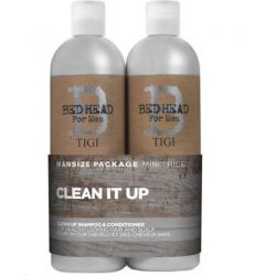 Set Cadou BED HEAD Tigi Clean It UP for Men Sampon +Balsam 750ml