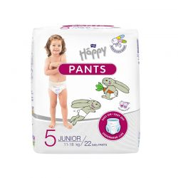 HAPPY Pants scutece-chilotel nr 5 Junior, 11-18 kg, 22 buc