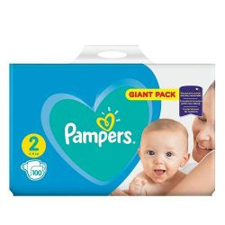 Pampers new giant pack nr. 2, 4-8 kg, 100 buc