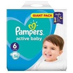Pampers new giant pack nr.6, 13-18 kg, 56 buc