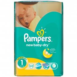 Pampers Nr.1 New Born 2-5kg, 43buc