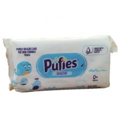 PUFIES servetele umede sensitive, 64 buc