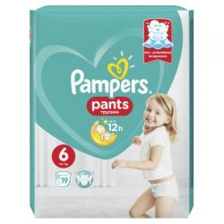 Pampers scutec Pants Nr.6 Extra Large 16+kg, 19buc
